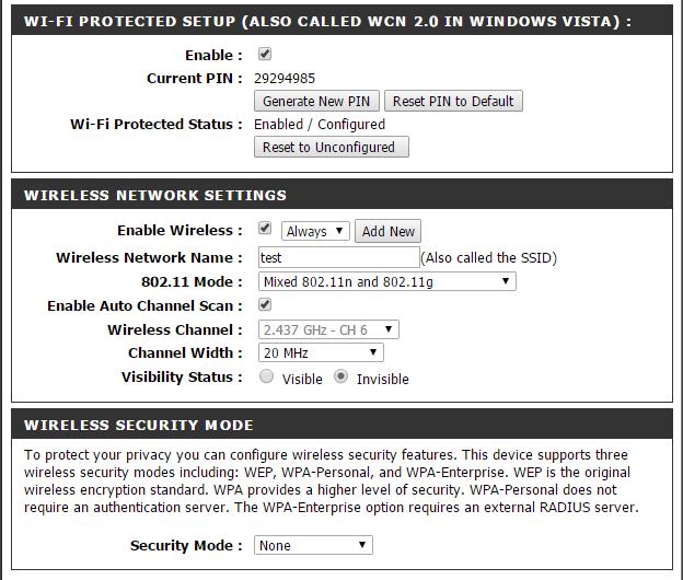 1 - Configure router