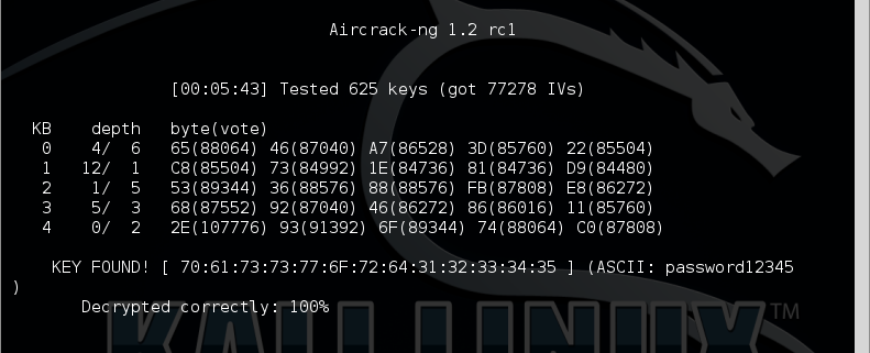 10 - aircrack success
