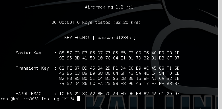 11 - aircrack-ng WPA2 cracked