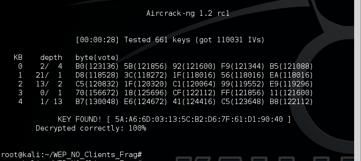 12 - aircrack-ng success no clients