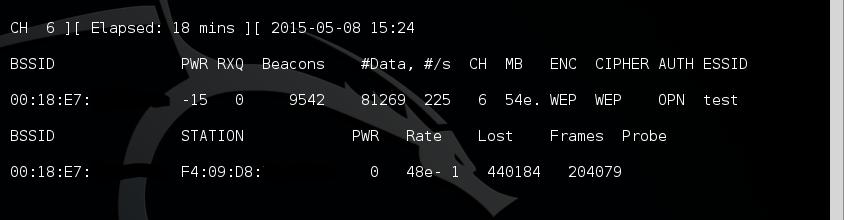 7 - airodump-ng data growing