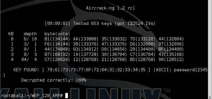 9 - aircrack-ng success