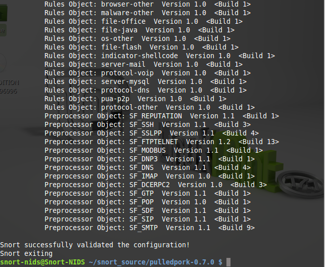 100 -Snort configuration test success