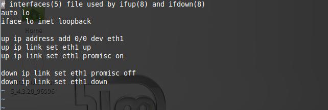 105 - Network interface settings modified