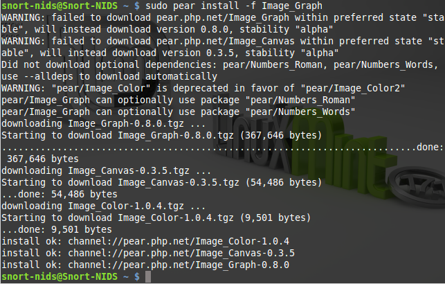 112 - Install Image graph pear