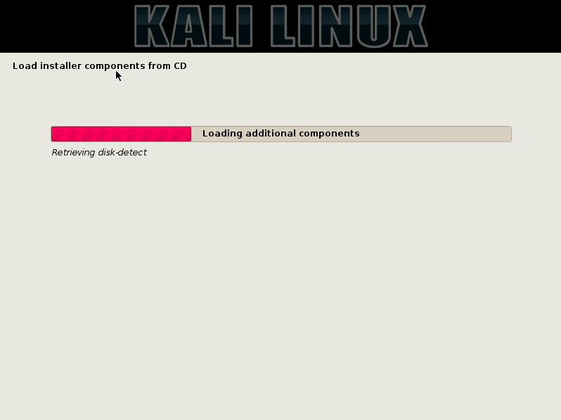 14 - Loading Kali components