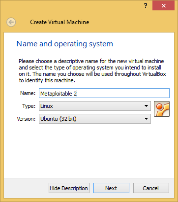 2 - Creating the metapsolitable vm