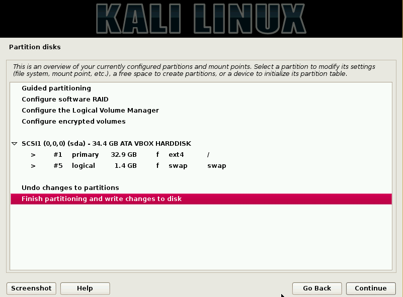 21 - Partition Kali disk