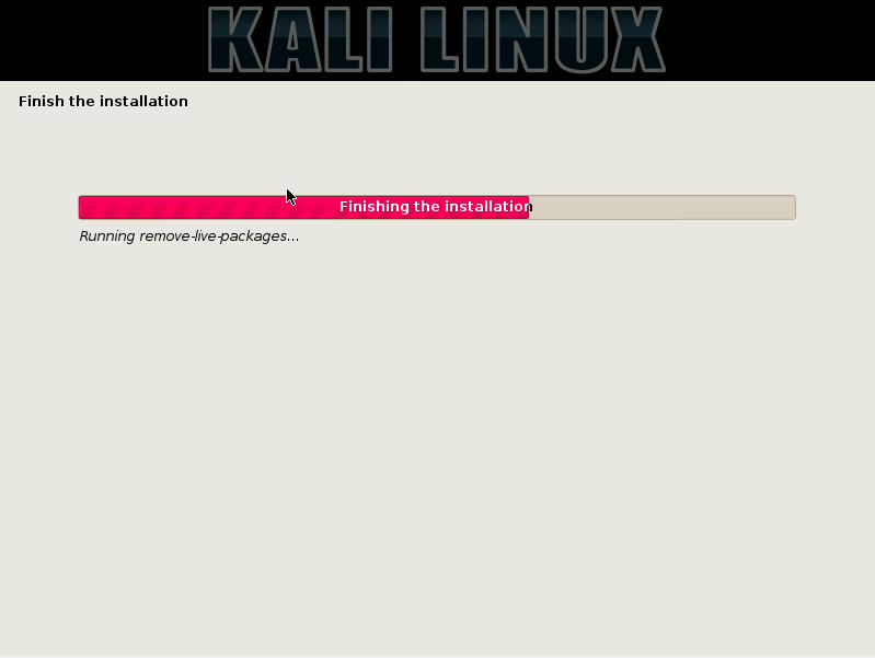 28 - Kali finishing installation