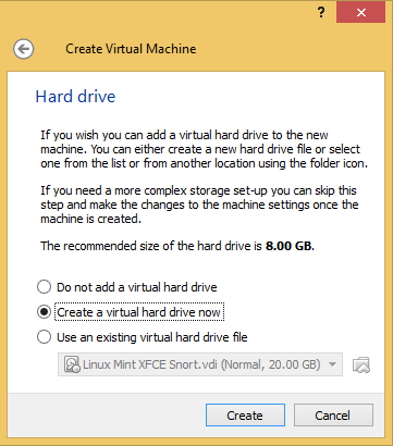 3 - DVWA create hard drive