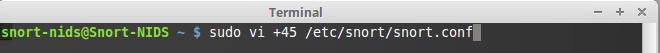 41 - snort conf file change