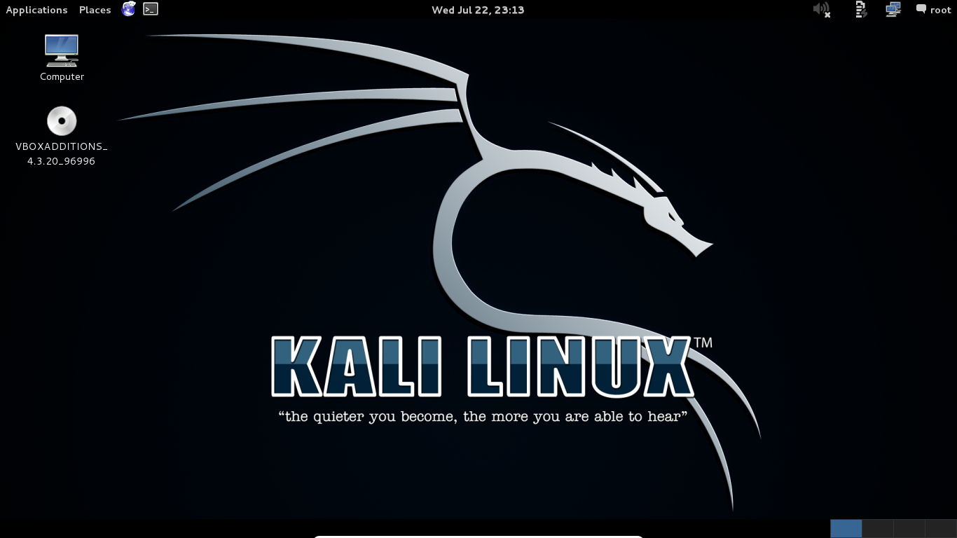 42 - Kali VirtualBox Guest additons full screen