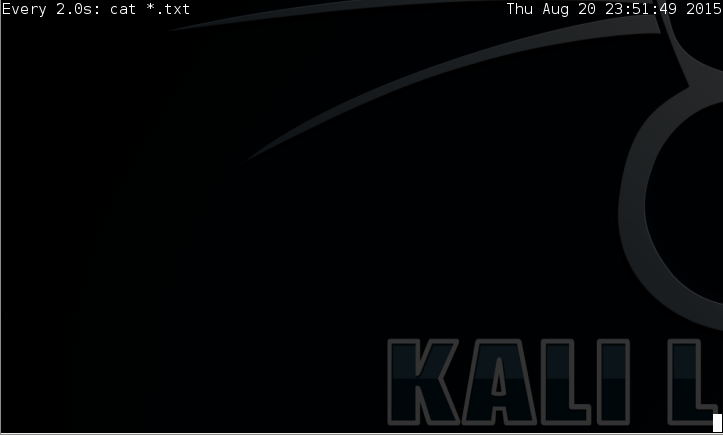 15 - Kali watch all txt files waiting