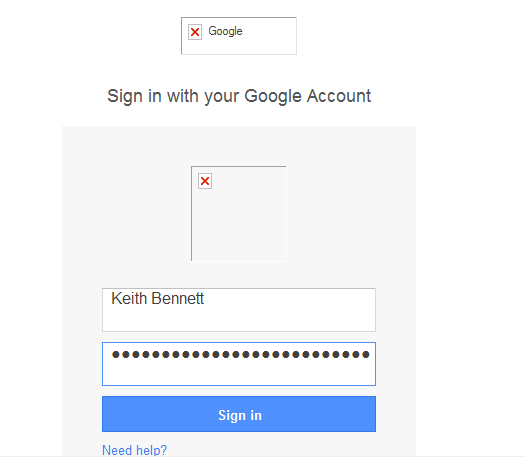 20 - Windows 7 Google Fake Login