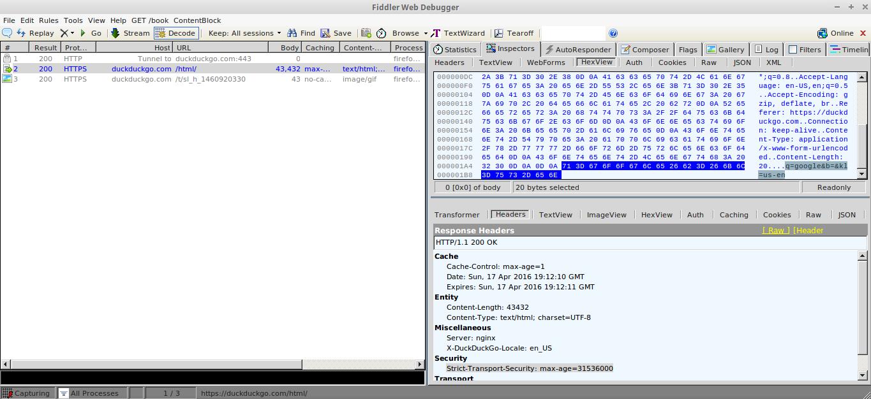 17_Fiddler_4_Firefox_Decrypted_DuckDuckGo_HTTPS__Search_Query_HexView