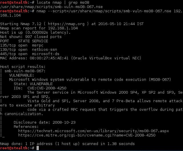 1_nmap_ms08_067_nse_vulnerability_scanning_script