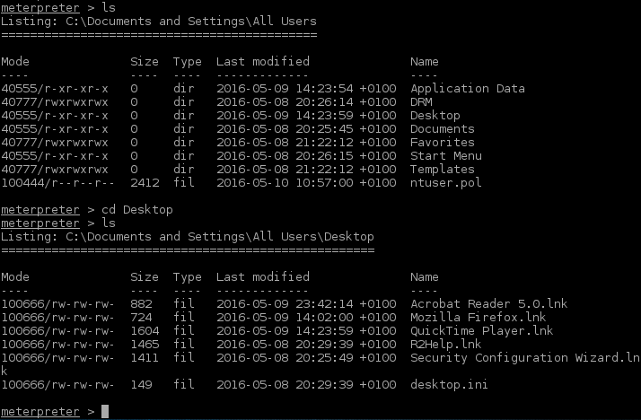 4_meterpreter_changing_directories_Windows_Server_2003_continued