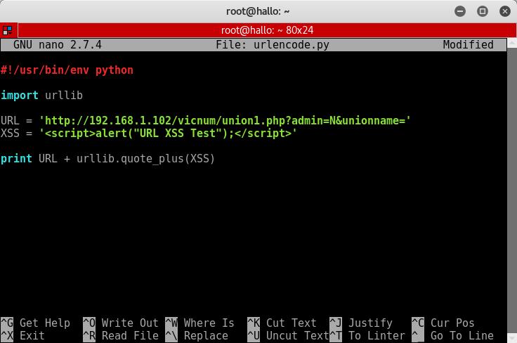 10_Vicnum_Cross_Site_Scripting_python_URL_encoder