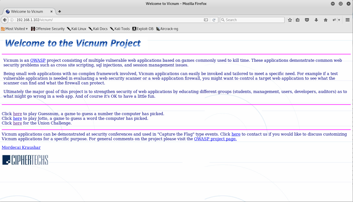 2_Selecting_target_Web_Application_Vicnum