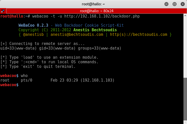 37_Vicnum_OWASP_BWA_WeBaCoo_backdoor_confirmation_test_success